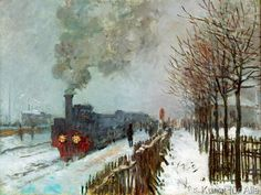 Claude Monet - Le train dans la neige, ou La locomotive