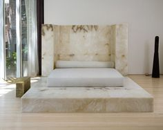 the most hideous bed I've ever seen- THE GRAVESTONE BED By: Rick Owens modern furniture interiors