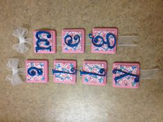 Hanging Lilly Pulitzer Craft #lilly #pulitzer #sorority #craft