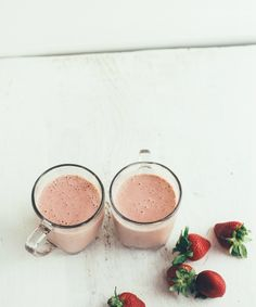 strawberry-basil smoothie