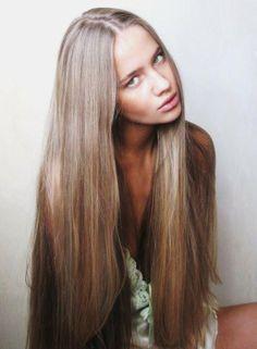 straight long hair,