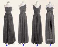 Gray bridesmaid dress cheap bridesmaid dresses chiffon by okbridal, $126.00