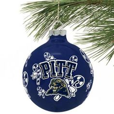 Pittsburgh Panthers Traditional Glass Ball Ornament!