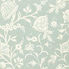 Thibaut Cypress - Bandonese - Wallpaper - Cream on Aqua