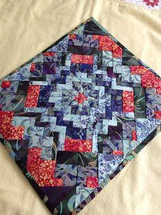 Folded star patchwork #folded star patchwork #hand-made #batik