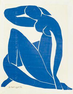 Henri Matisse, Nu bleu II, 1952  Tatooed on my right shoulder blade!