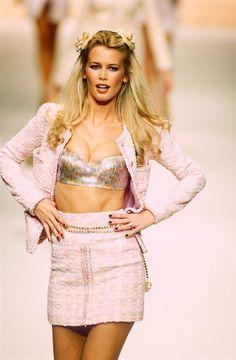 80s-90s-supermodels:    Chanel 1994Model: Claudia Schiffer