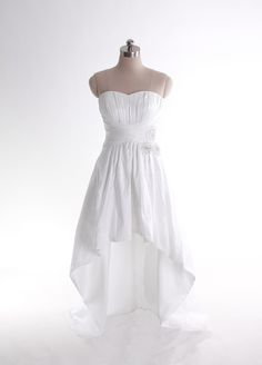 Empire waist sweep/brush train sleeveless taffeta elegant bridal gown. Gorgeous!! But i want lace sleeves/straps
