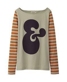 House Industries x Uniqlo #shirt #tshirt #ampersand #typography #design #stripes #fashion #style