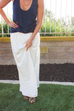 Super simple diy maxi skirt tutorial