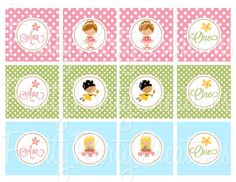 LITTLE FAIRIES cupcake toppers  YOU Print by PrettyPartyCreations