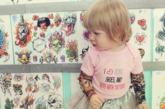 Girls Embroidered shirt with Vegas tattoo by Thetattoodtyke, $30.00