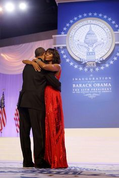 Barack and Michelle Obama share a dance at the 57th Presidential Inauguration on Jan 21, 2013.