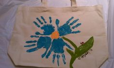 Pinterest Mother's Day for Grandma | bag with kids handprints for a cute Mother's Day gift for grandma ...
