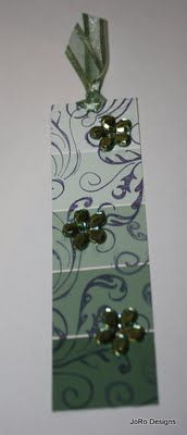 paint chip tag or bookmark