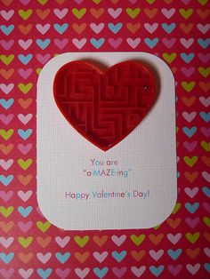 Adorable valentine card - with free printable
