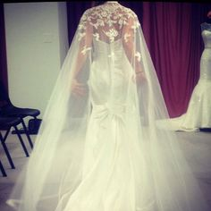 The ultimate dramatic cape by Impression Bridal
