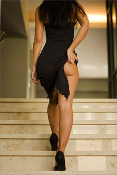 leg, stair, girl, sexi, the view