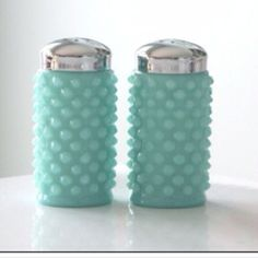 Fenton hobnail glass shakers