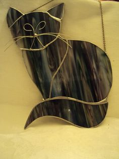 #stained #glass black cat