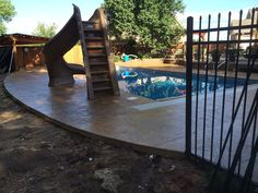 Concrete Pool Decks are an area that require a lot of attention to detail. For some of you the pool deck is already installed, but you want a new look. We do that too.  What is the concrete finish going to be? Is it stamped concrete, broomed concrete, or colored concrete? Or is it a mixture of stamped concrete and broomed concrete?