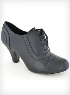 Coal Mill Lace-Up Oxford Heels | PLASTICLAND
