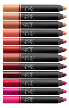 All the colors of the lipstick rainbow // oh my Nars!