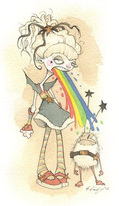 Never thought I'd see the day where Gris Grimly would take on something like Rainbow Brite...and oh man, did it turn out awesome! :-D