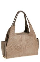Perlina Snake Embossed Leather Tote