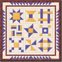 August 2014 - In the Beginning BOM Quilt by Cindy McCoy