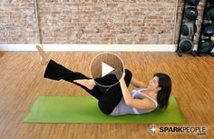 The only 2 Pilates moves you'll ever need to flatten your belly! | via @SparkPeople #TeamSkinnyJeans #abs #workout #fitness