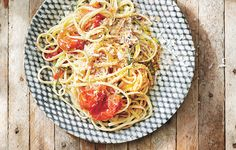 Linguine with Burst Tomatoes and Chiles Recipe - Bon Appétit