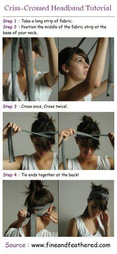 Criss-crossed Headband Tutorial | PinTutorials