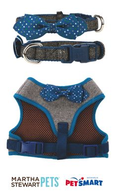 #Tweed is in! Walk your pet in style with these #marthastewartpets tweed collars and harnesses.