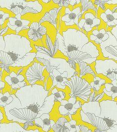 Gorgeous @HGTV HOME #fabric - poppy power in lemonade! #hgtvhomemagic