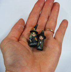 Miniature Folk Art Witch Primitive Dolls