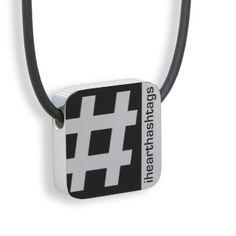 #Hashtag tab pendant - Blend Creations