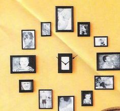 DIY - How to Make Wall Clock with Family Photos - Yahoo! Voices - voices.yahoo.com