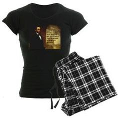 $39.50 Abraham Lincoln quote & portrait Women's pjs