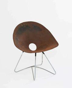 :: Tubular Aluminum and Sheet Metal Chair by Meuser Werke, 1940s. ::