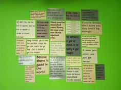 Quote wall!