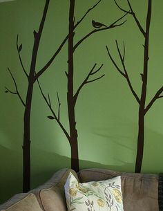Bamboo Branches Peinted Design