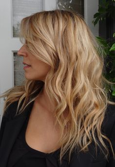 Sandy blonde color - looks like Blake Lively hair