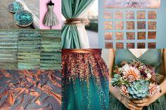Copper and Aqua wedding colors