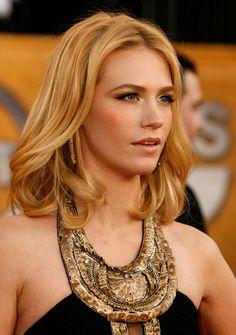 January Jones Hair    Celebrity Hairstyles #Hair #Hairstyles #Haircuts #Hairstyle #Haircut #Celebrity @Pinterest