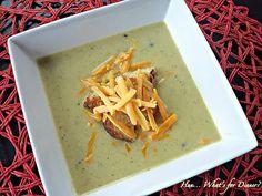 Skinny Broccoli Cauliflower and Cheese Soup