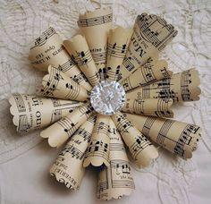 Sheet Music handmade Christmas ornaments