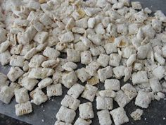 Cake batter puppy chow