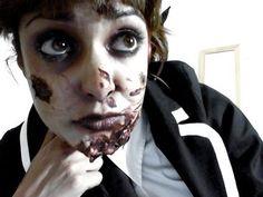How to: ZOMBIE school girl makeup tutorial by Krystle Tips