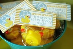Rubber Ducky Party Theme. Favor Tags. #favors #rubberducky #kids #party #theme #firstbirthday